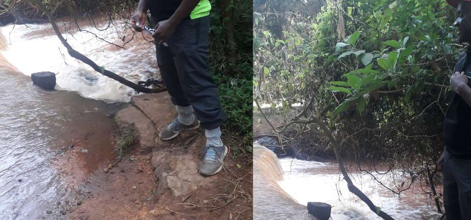 Karura Forest's Baby Waterfall