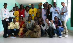 Youth from acros Africa attending the Africa Youth Environment Network meeting at Congo Brazaville